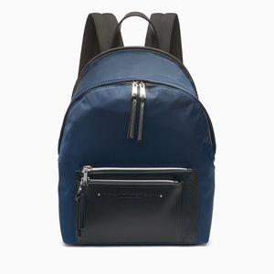 Calvin Klein Nylon logo zip backpack Navy